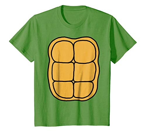 Kids Turtle Shell Shirt KIDS DIY Halloween Costume FRONT + BACK 12 -