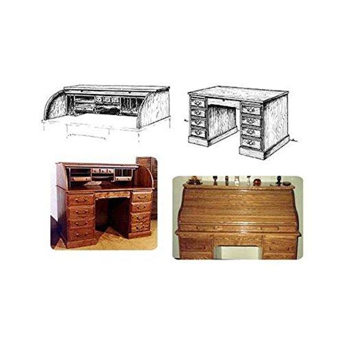 Twin Tambor Roll Top Desk Woodworking Plan