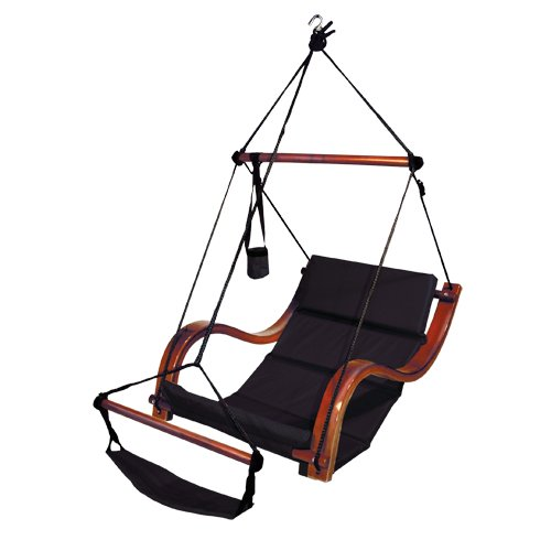Hammaka Nami Deluxe Hanging Hammock Lounger Chair In Black