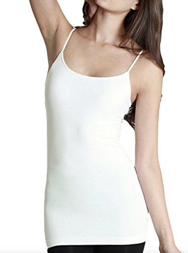 Ivory Cami Top (Nikibiki Long Camisole Style NS4011 (IVORY), One size fits all)