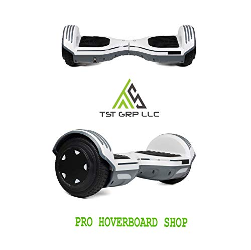 TST 2019 New Hover Board UL 2272 Certified 6.5 Two-Wheel Self Balancing Electric Scooter with Start Wheels (Free Carry Bag) (Mat White)