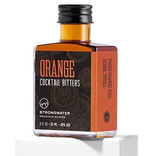 Strongwater Orange Cocktail Bitters (3 Fl Oz) Spiced Bitters Made with Orange Zest, Cardamom & Black Walnut - Pair with Whiskey, Bourbon, Vodka, Rum, or Gin
