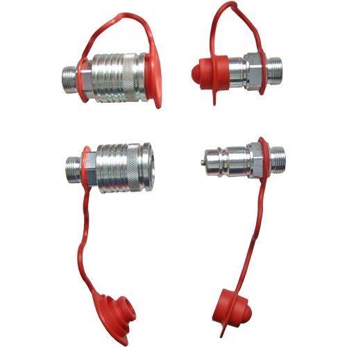 4x Staubschutz rot Set Hydraulik Steckkupplungen 2x Muffe 2x Stecker 12L