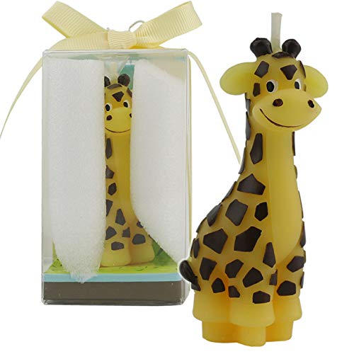 Cake Gift Candle - TinaWood Creative Giraffe Cartoon birthday Candle, Smokeless Cake candle and Party Supplies, Hand-made Cake Topper Decoration, Great Gift