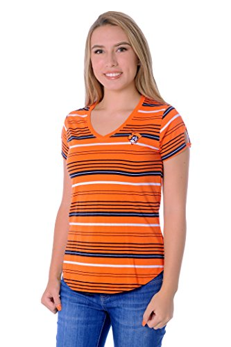 UG Apparel NCAA Oklahoma State Cowboys Women's Tailgate Tee, Orange/Black, -