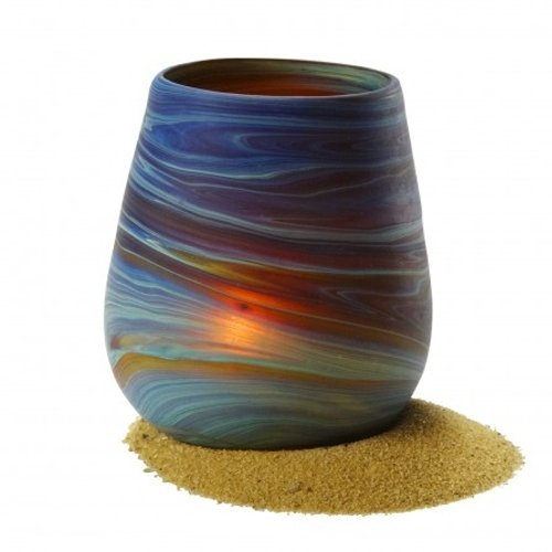- Small Candle Phoenician Vase - Ancient beauty Phoenician Glass Vase. Each is unique. Museum quality looks and feels(2.5 Inch)