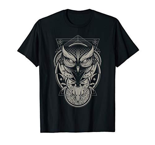 Alchemy Owl Ornate Geometric Animal Graphic T-Shirt