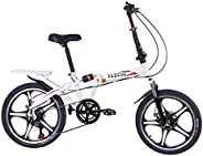 Selomore 20 Inch Variable Speed Folding Bicycle Adult Travel Folding Bicycle,Adult Folding Bicycle, Shock Abso