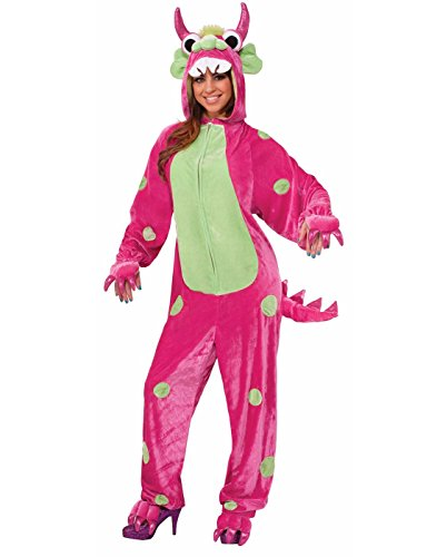 Forum Novelties Women's Monster Costume, Pink/Green, Standard -