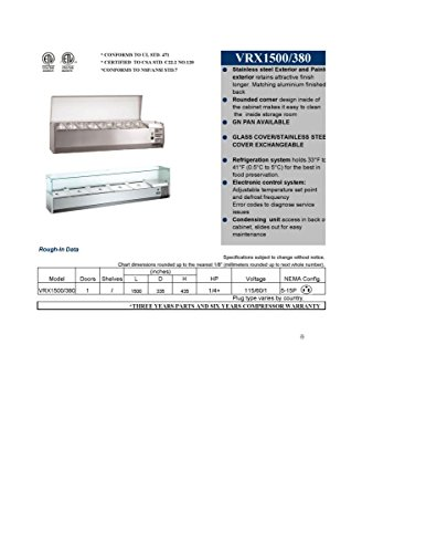 Refrigerated Work Table (60in Salad Sandwich Prep Table Refrigerated RESTAURANT EQUIPMENT)