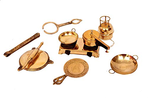 The Bling Stores Brass Miniature Toy Set of 6 PCS Playful for Kids & Showpiece
