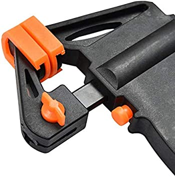 Orange et Noir JIUY 4 Pouces du Bois Barre de Serrage Rapide /à cliquet de Presse Vitesse Squeeze Clip Type F Manuel Spreader Gadget Bricolage Outils /à Main