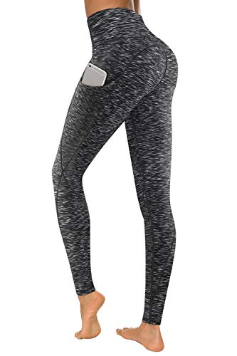 - TUNGLUNG High Waist Yoga Pants with Pockets, Tummy Control Yoga Leggings for Women 4 Way Stretch Running Workout Pants