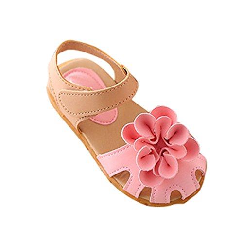 NiSeng Niños Zapatos Sandalias Bebe Sandalias De Flor Verano Chica Princesa Sandalias Rosa