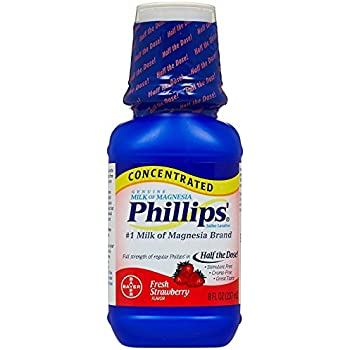Phillips Concentrated Milk of Magnesia Saline Laxative, Fresh Strawberry 8 oz