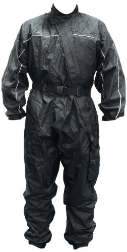 Motorx Motorrad Regenkombi, Schwarz, Größe XL