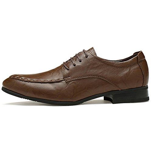 pelle uomo Dimensione Color classiche Scarpe da in Oxford Business Primavera Scuro casual Fang inglesi Light shoes Brown 39 confortevoli Marrone EU 2018 Estate classica fHqazYOw
