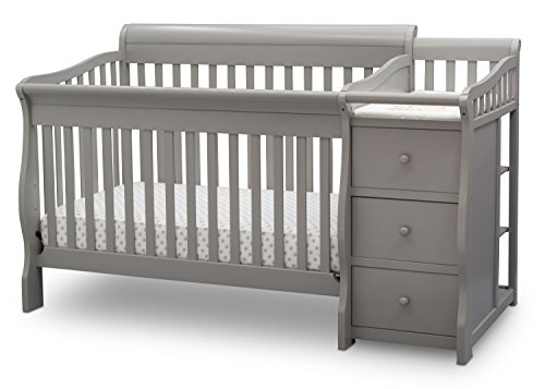 Grow Sleigh Crib (Delta Children Princeton Junction Convertible Crib N Changer)