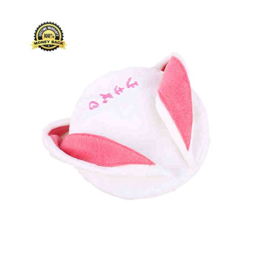 Present Costume Cute (Cute Rabbit Beret Hat Costume Headwear New Year Gift Cosplay Women Coser RH00003)