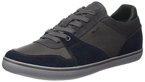 Geox Men's Box 26 Fashion Sneaker, Navy/Anthracite, 40 EU/7 M US