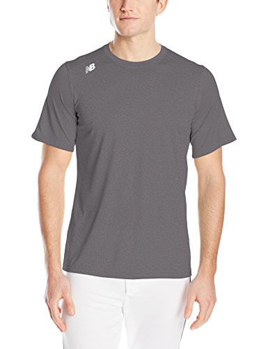 New Balance Mens NB short Sleeve Wicking Tech Tee Shirt Dark Heather gLynhaFJFv