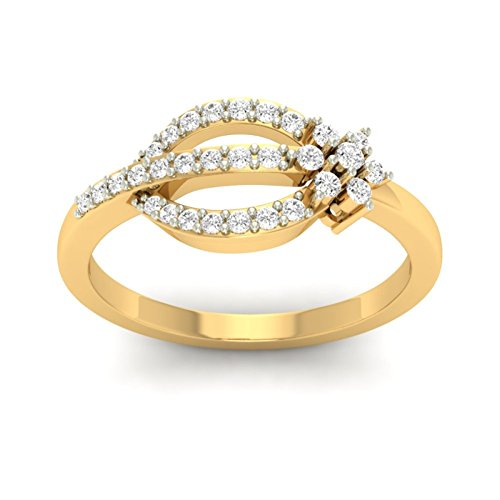 14K Yellow Gold (HallMarked) 0.29cttw Round-Cut-Diamond (IJ | SI) Diamond Engagement Wedding Ring Size - 10 by PEACOCK JEWELS