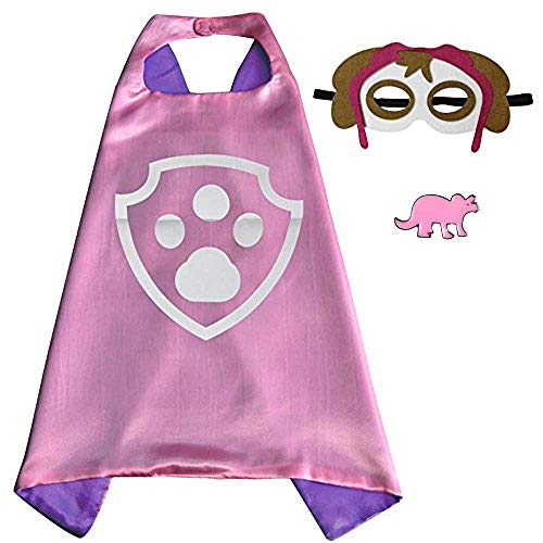Superhero Cape and Mask Costume for Kids with Pin (Skye)]()