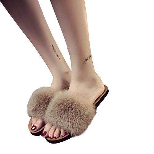 Ragazze Donna Fiori Marrone Infradito Pantofole Witsaye Scarpe Estivi da Pantofole Sandali Eleganti Ciabatte Donna Spiaggia IF4q7