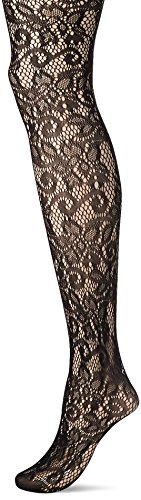 Leg Avenue Women's Plus-Size Vine Net Pantyhose, Black, Plus Size -