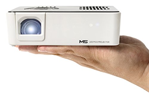 AAXA M5 Mini Portable Business Projector with Built-in Battery, 900 Lumens High Brightness, Native WXGA HD Resolution, Onboard Media Player, 20,000 Hours LED