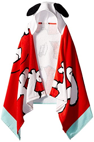 Peanuts Classic Cotton Kid's Bath/Beach/Pool Hooded Towel Cape by Peanuts