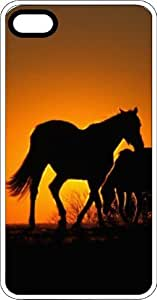 Home On The Range Horse Silhouette Clear Rubber Case for Apple iPhone 4 or iPhone 4s