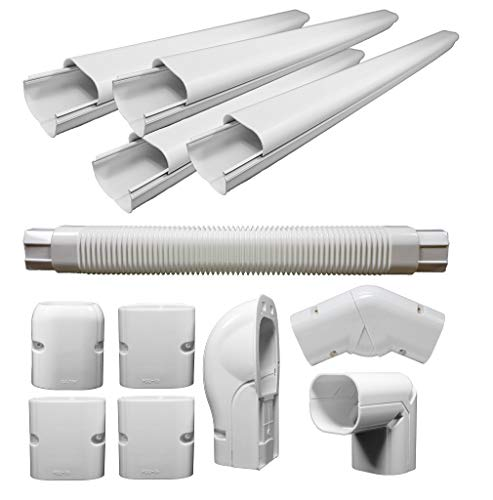 (pioneer air conditioner Decorative PVC Line Cover Kit for Mini Split Air Conditioners and Heat Pumps - WYS-LCVR-KIT)
