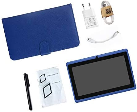 Tablet PC 7 inch,Android Quad Core Tablet Computer with Keyboard,Dual Camera,40GB Storage Capacity,Capacitive Touch Screen,Support WiFi,Bluetooth,GPS(with Stylus) (Blue)