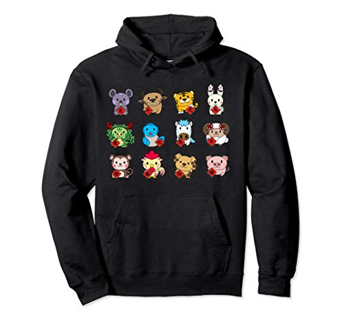 Chinese New Year Rooster - Cute Chinese Zodiac Animal Signs hoodie Lunar New Year