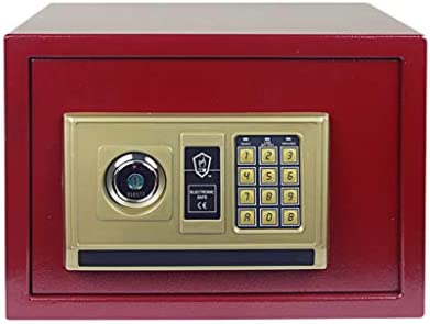 パーツボックス 金庫小型家庭用ストレージボックスファミリー隠しサイドテーブルミニメタル金庫電子スマートパスワードアンロック (Color : B, Size : 35*26.5*25cm)