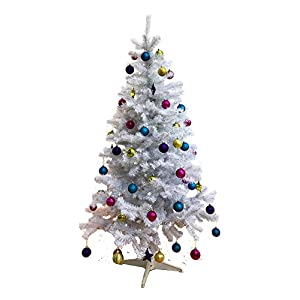 Homegear 6FT Deluxe 700 Tip Artificial White Xmas/Christmas Tree 9