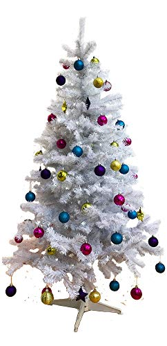 Homegear 6FT Deluxe 700 Tip Artificial White Xmas/Christmas - Trees Decorated White Christmas