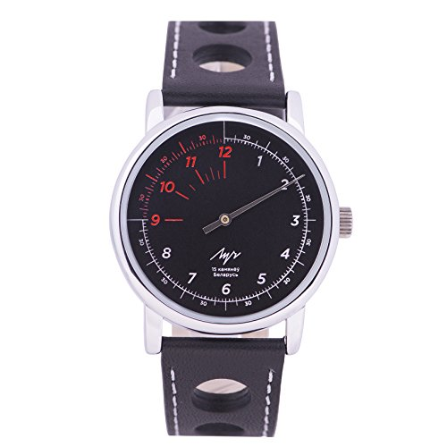 Wrist Watch Luch One Hand Сollection Speed Mechanical Movement 1801.1H Black Dial