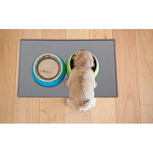 delicate Dog Food Feeding Mat,Non-slip Cat Food Mat,Silicone Pet Feeding Mat,Waterproof Dog Bowl Mat - FDA Grade