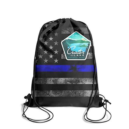 Crater Lake National Park Estd 1909 Unisex Drawstring Handbags Cool Waterproof Travel Sports Sports Backpack
