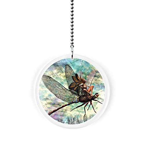 (Fairy Riding a Dragonfly Fan/Light Pull)