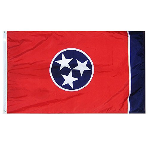 Flag State Tennessee (3 x 5 Tennessee State Flag - Nylon - 100% American Made)