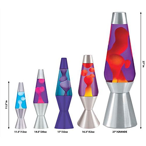 047162021252 - Lava Lite 2125 14.5-Inch Classic Silver-Based Lava Lamp, Yellow Wax/Purple Liquid carousel main 2