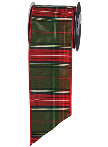 Classic Christmas Tartan Plaid Ribbon, 4