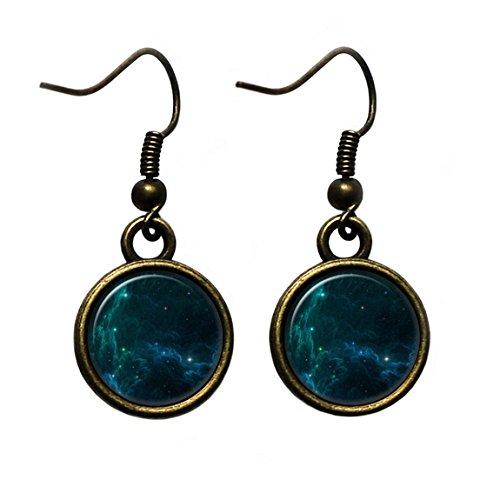 NASA Photograph Starlight Star Light Antique Bronze Earrings