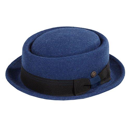 Dasmarca Mens Milange Wool Felt Pork Pie Hat - Quintin Navy M