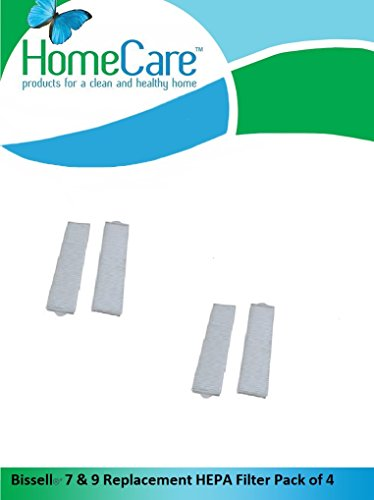 Home Care Products Created Bissell HEPA Filter Designed to Fit Style 7 & 9 replace Part # 32076 Pack of 4 by Home Care