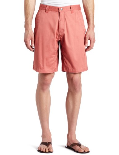 Mountain Khakis Men's Lake Lodge Twill Short Relaxed Fit, Summer Red, 33