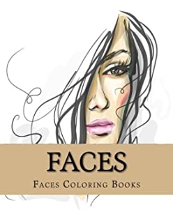 Faces Large One Sided Stress Relieving Relaxing Coloring Book For Grownups Women